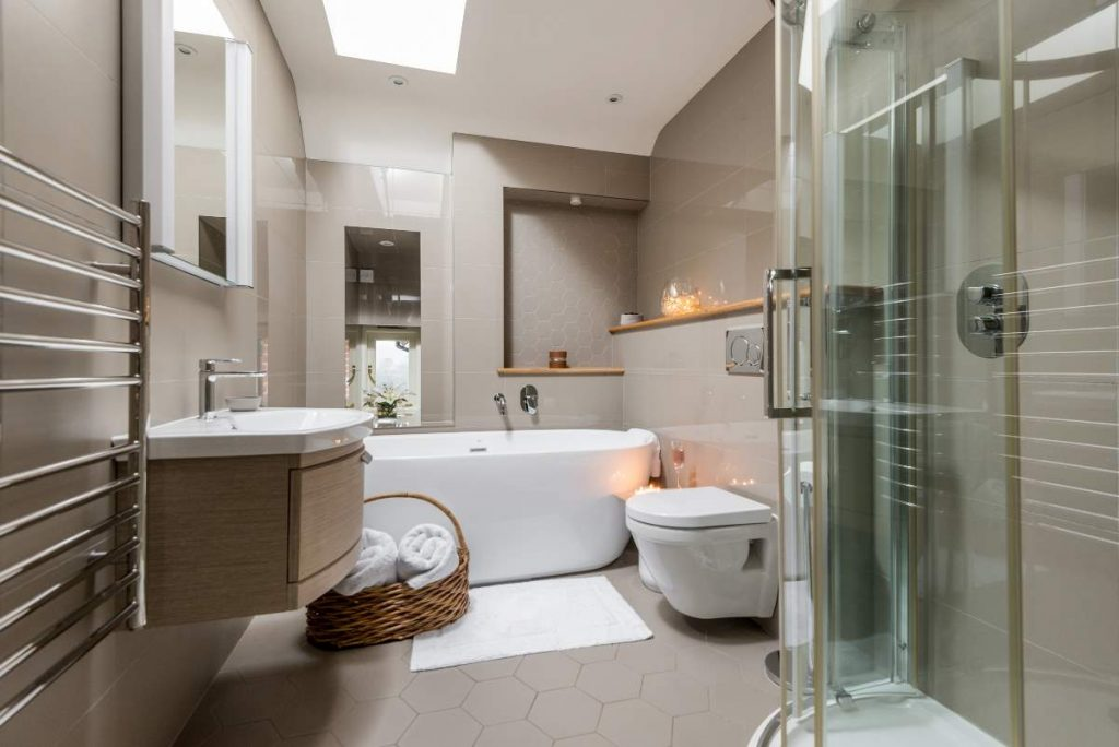 Bath and walk in shower